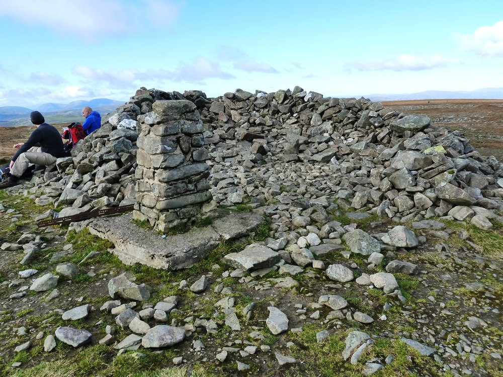 Dinner time on the summit of Glas Maol