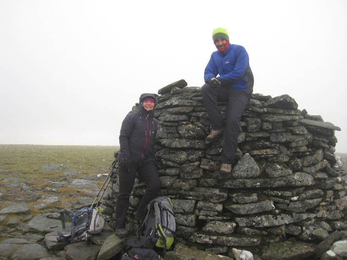 On top of Meall Chuaich – where's the view?