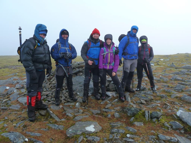 On the summit of Carn Sgulain