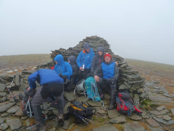 The summit cairn on A'Chailleach