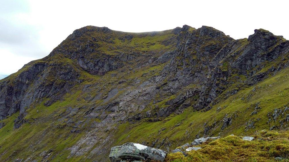 The rocky face of Sgurr nan Clach Geala