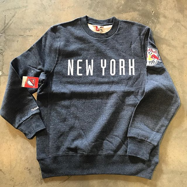 New York Red Bull's MLS crew neck by @mitchellness available @mamcoutureboutique! #Feelikeamill . . . . . #mamcouture #mamcoutureboutique #streetwear #style #boutique #fashion #denverboutique #denver #mensfashion #womensfashion