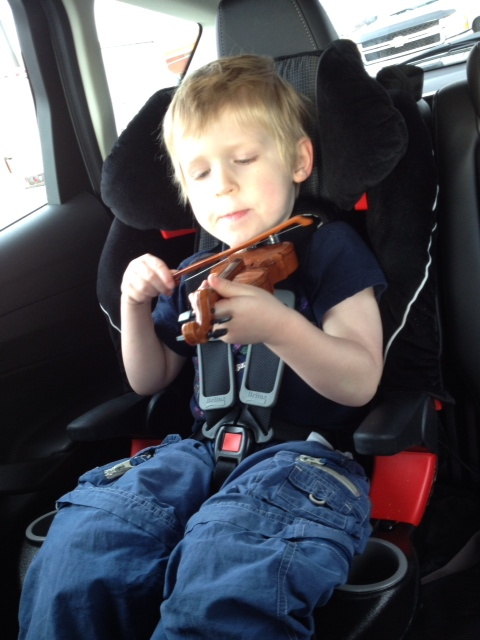The sound of touch-sensitive violin in a car.