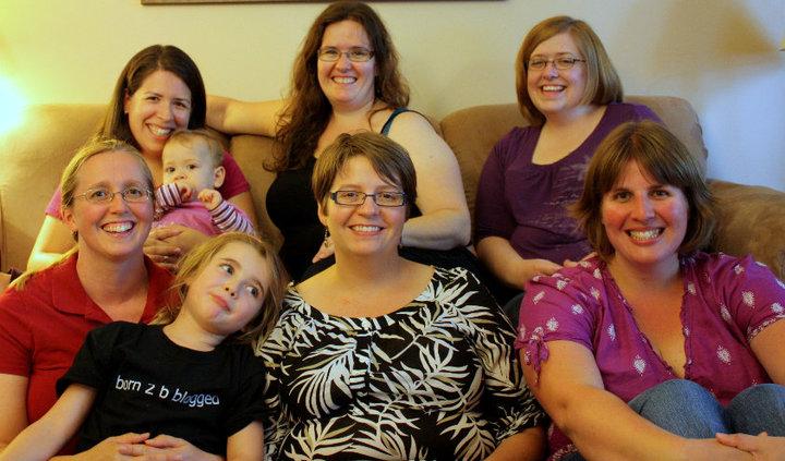 Back: Vicky (Mieka), Lara, Me, Front: Barbara (Reid), Donna, Sara