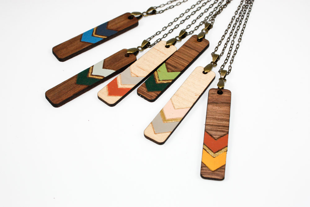 Painted Wooden Pendants