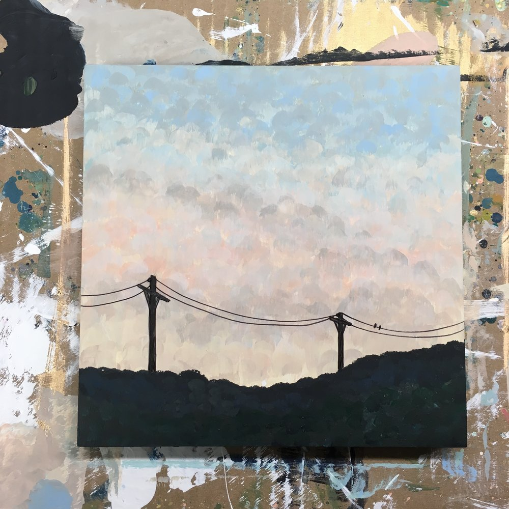 """The Ridge at Dusk""  by Sarah Mandell (January 21st, 2018)"