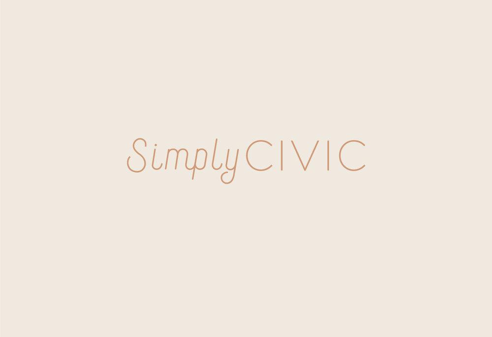 Simply Civic | branding, identity system, digital design