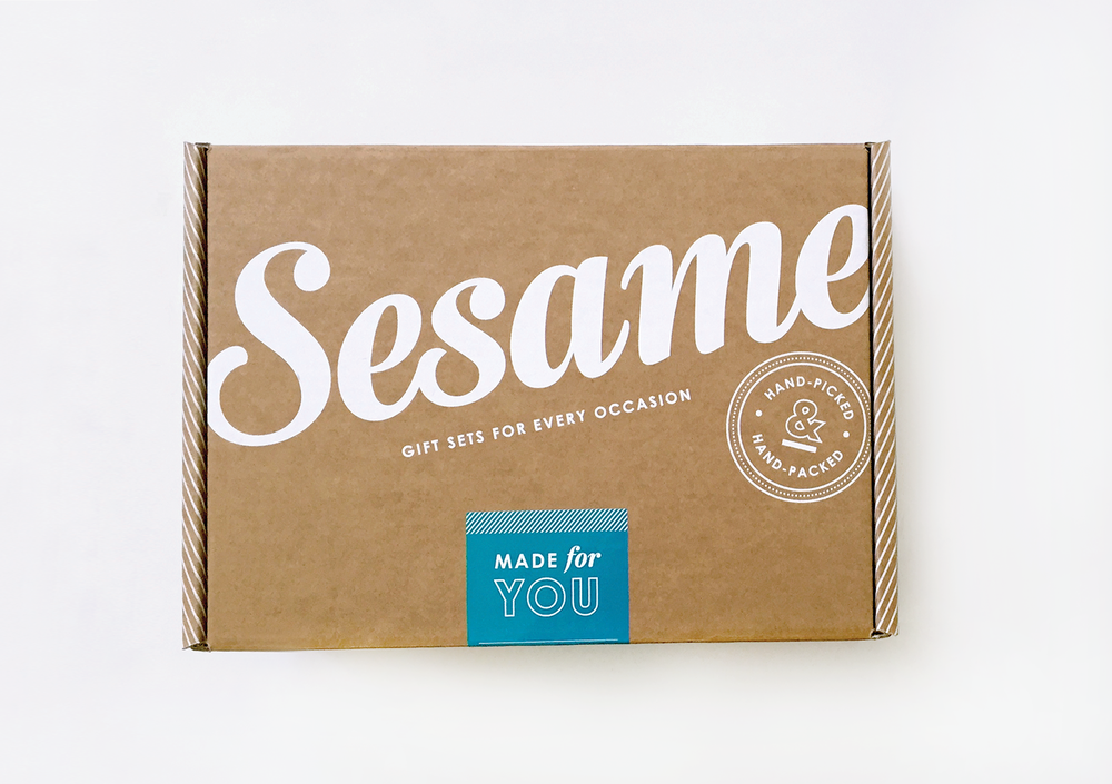 Sesame Gifts |  branding, e-commerce   web design, marketing design, packaging, art direction