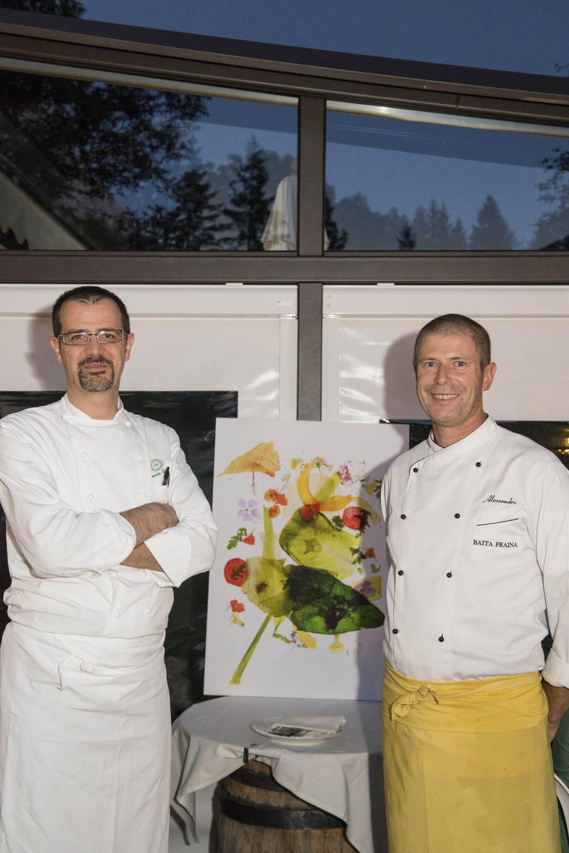 Lo chef Antonio Guida e lo chef Alessandro Menardiph. Giacomo Pompanin