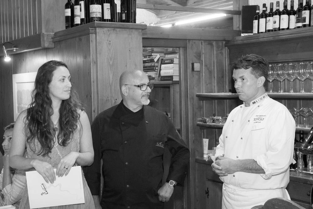 Chiara Costa con Claudio Sadler e Graziano Prest