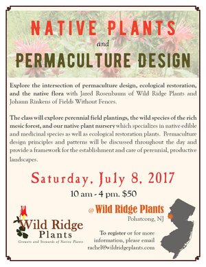 WORKSHOP NATIVE PLANTS PERMACULTURE
