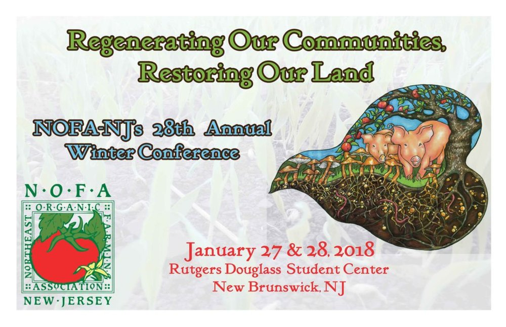 PERMACULTURE PANEL DISCUSSION AT NOFA NJ WINTER CONFERENCE WITH MICHAEL JUDD, ANDREW FAUST, LINDSAY NAPOLITANO, & MARK SHEPARD, MODERATED BY JOHANN RINKENS - SATURDAY, JANUARY 27th 2018, 3:15 pm - 4:30 PM AT THE DOUGLAS COLLEGE STUDENT CENTER