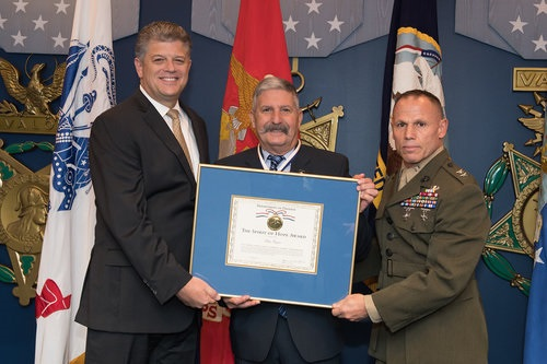 Mr. Michael Rhodes, Pentagon Director of Administration and Major General Daniel J. Lecce, USMC