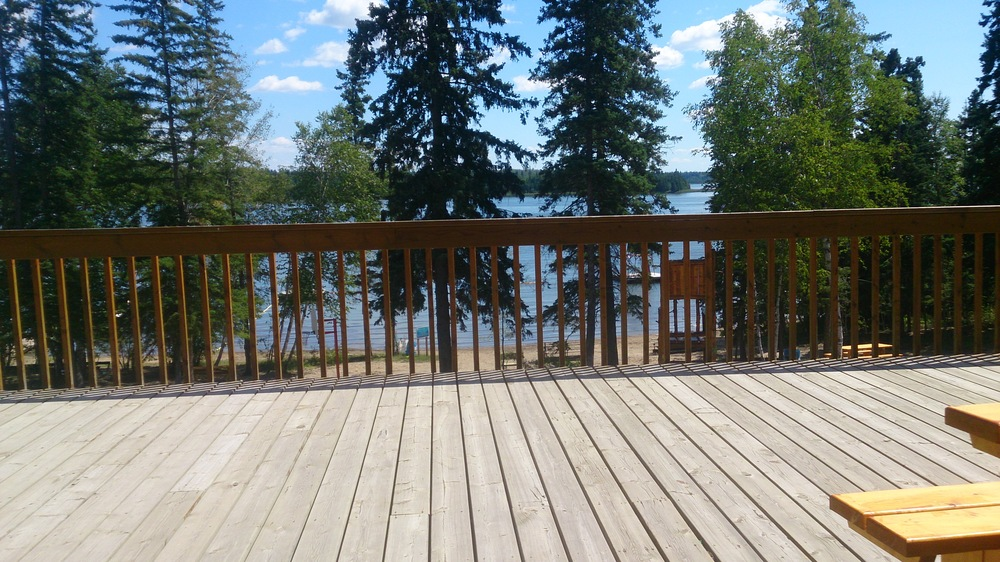 The deck at Camp Kadesh