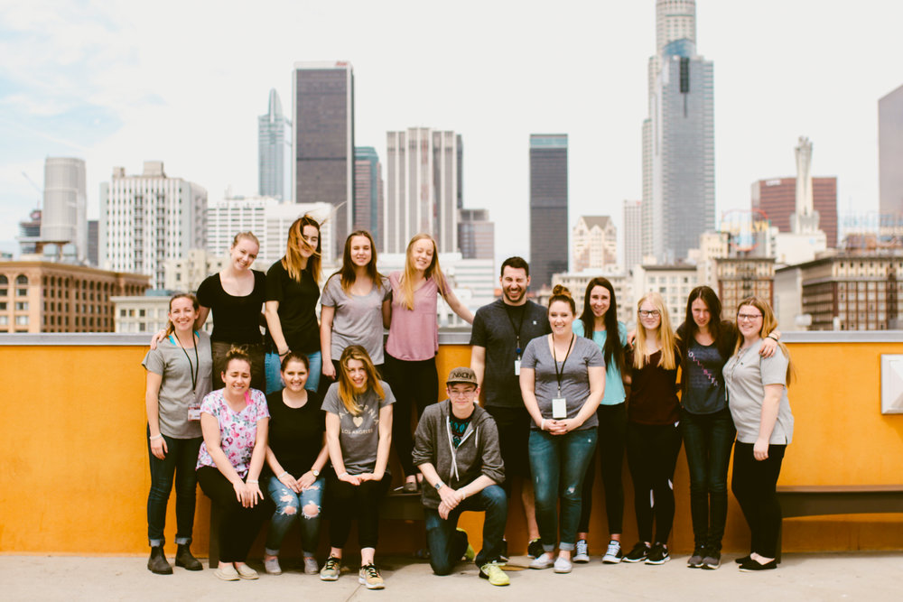 Students served at the Union Rescue Mission in downtown LA
