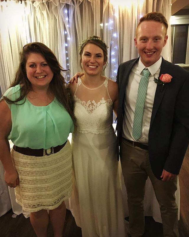 So happy for these two wonderful people!  I have loved working alongside both of you these past few summers and can't wait to see what God has in store for your future together! 😊💖#appleymarried #gingerprince