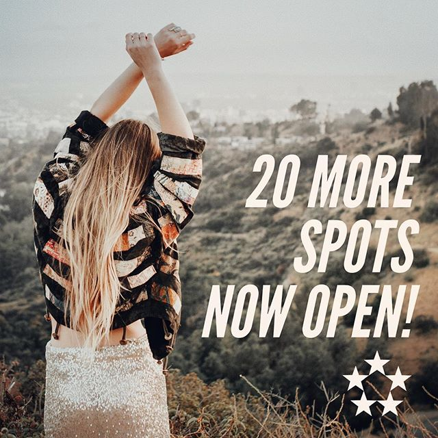 We have opened up 20 more spots on the trip!  It's not too late, you can be part of the best spring break of your life!  Go online now and register, put down a deposit to save your spot, and get ready for California. Share this good news with your friends and your parents, let's do this!  #calbreak #springbreak