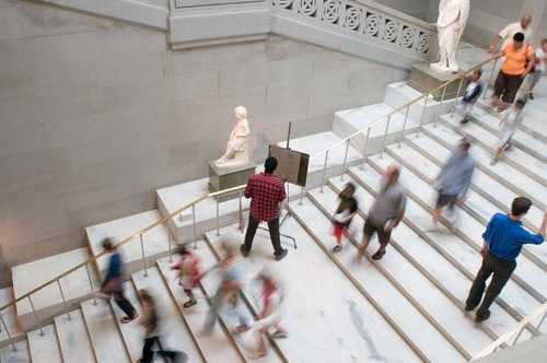 Stairs in the Corcoran Gallery of Art