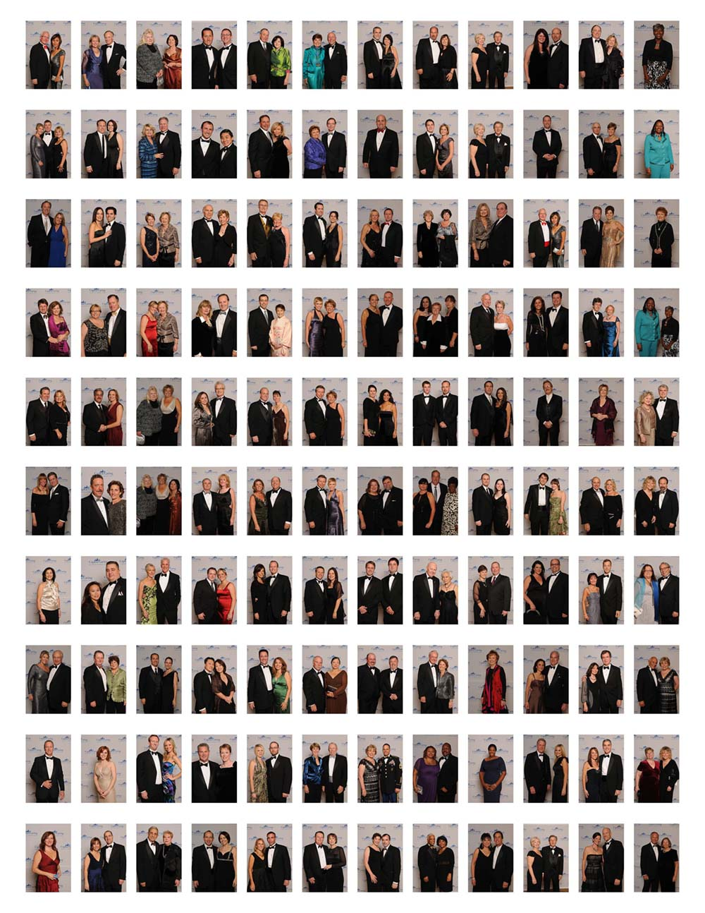 Step and repeat portraits at a Washington DC fundraiser
