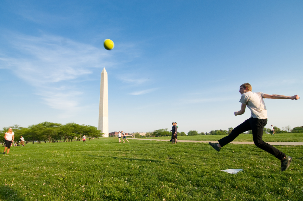 Kickball on the National Mall