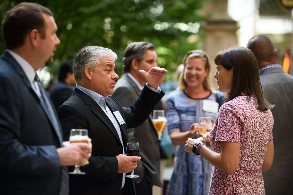 Candid Networking photograph from a Corporate Event.