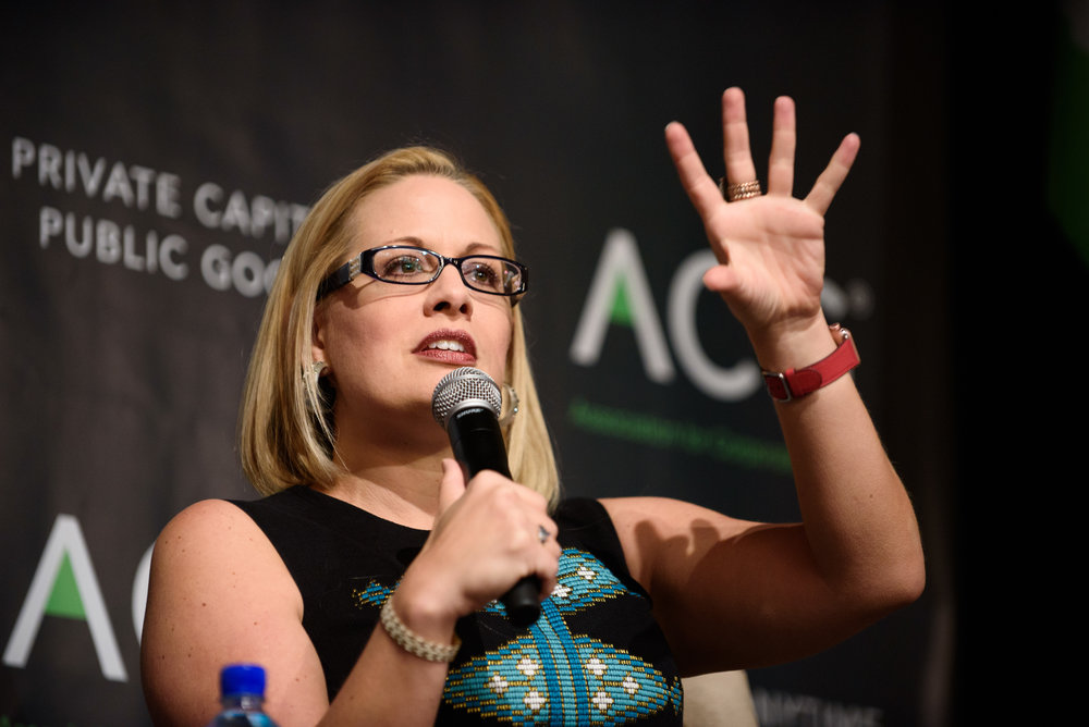 Rep. Kyrsten Sinema  in Washington, DC for the Association for Corporate Growth.