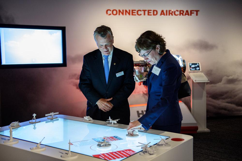 Senator Susan Collins at the Honeywell HTEC space in Washington, DC.