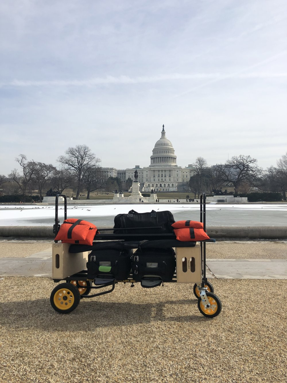 Rock-N-Roller Mulitcart in front of the US Capitol.