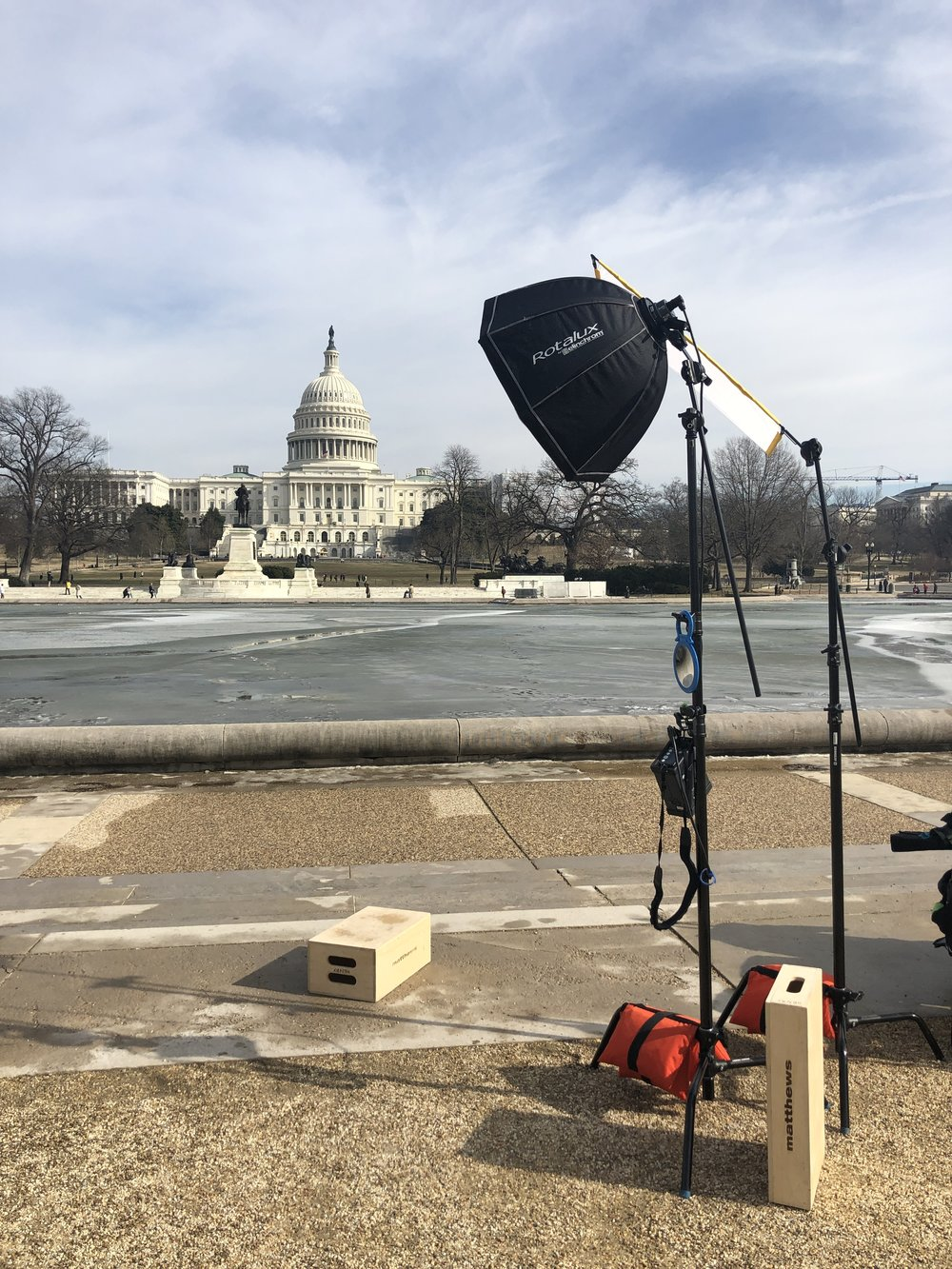Portrait setup in front of the US Capitol.
