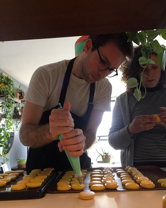 Serious macaron making. #nyc