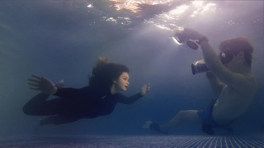 How it was shot. Yes, we're really underwater.