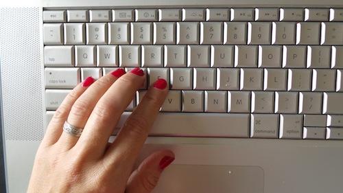 Sugar Jones hand on keyboard
