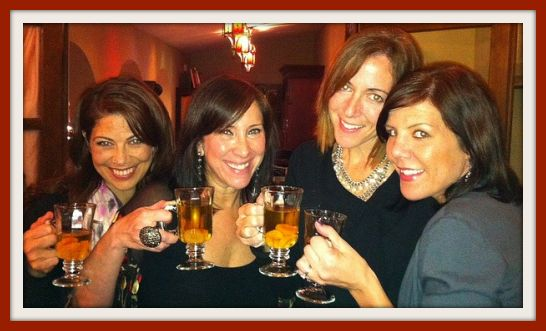 Me, @RomyRaves, @MommyPants, and @AndreaFellman Sipping Warm Winter Margarita