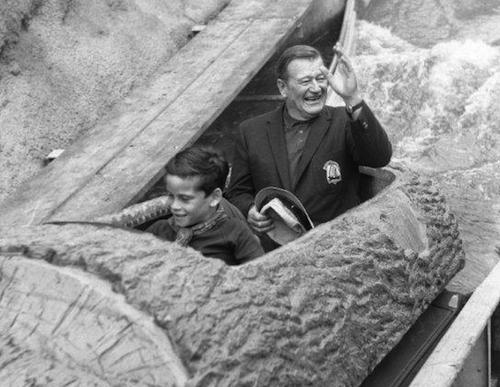 John Wayne and his son, Ethan