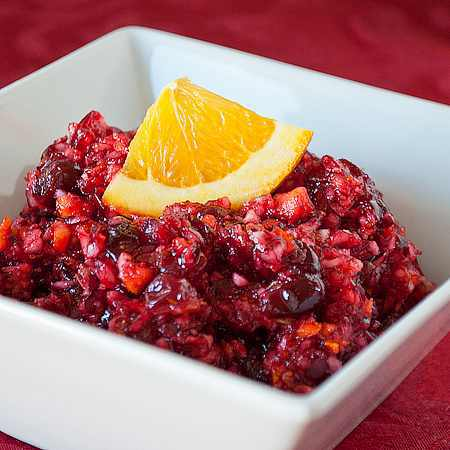 Cranberry Orange Relish #raw #food