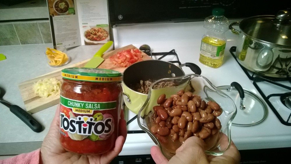 Add Beans and Salsa