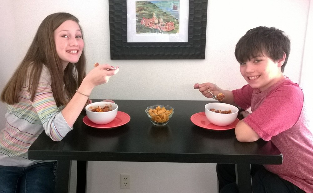 Kids Eating Chili