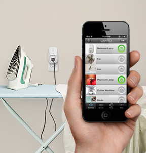 WeMo Switch, Smartphone, and Iron