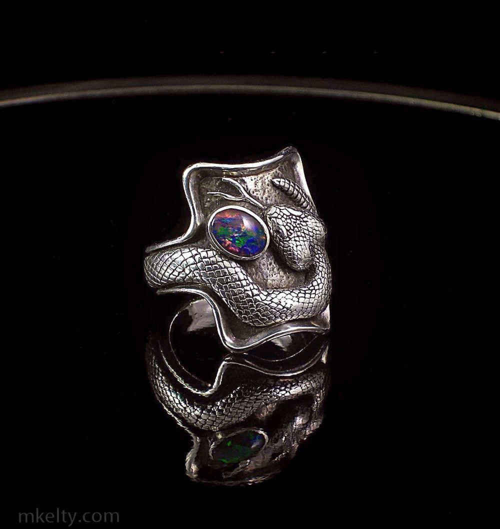 Sterling Rattlesnake Ring