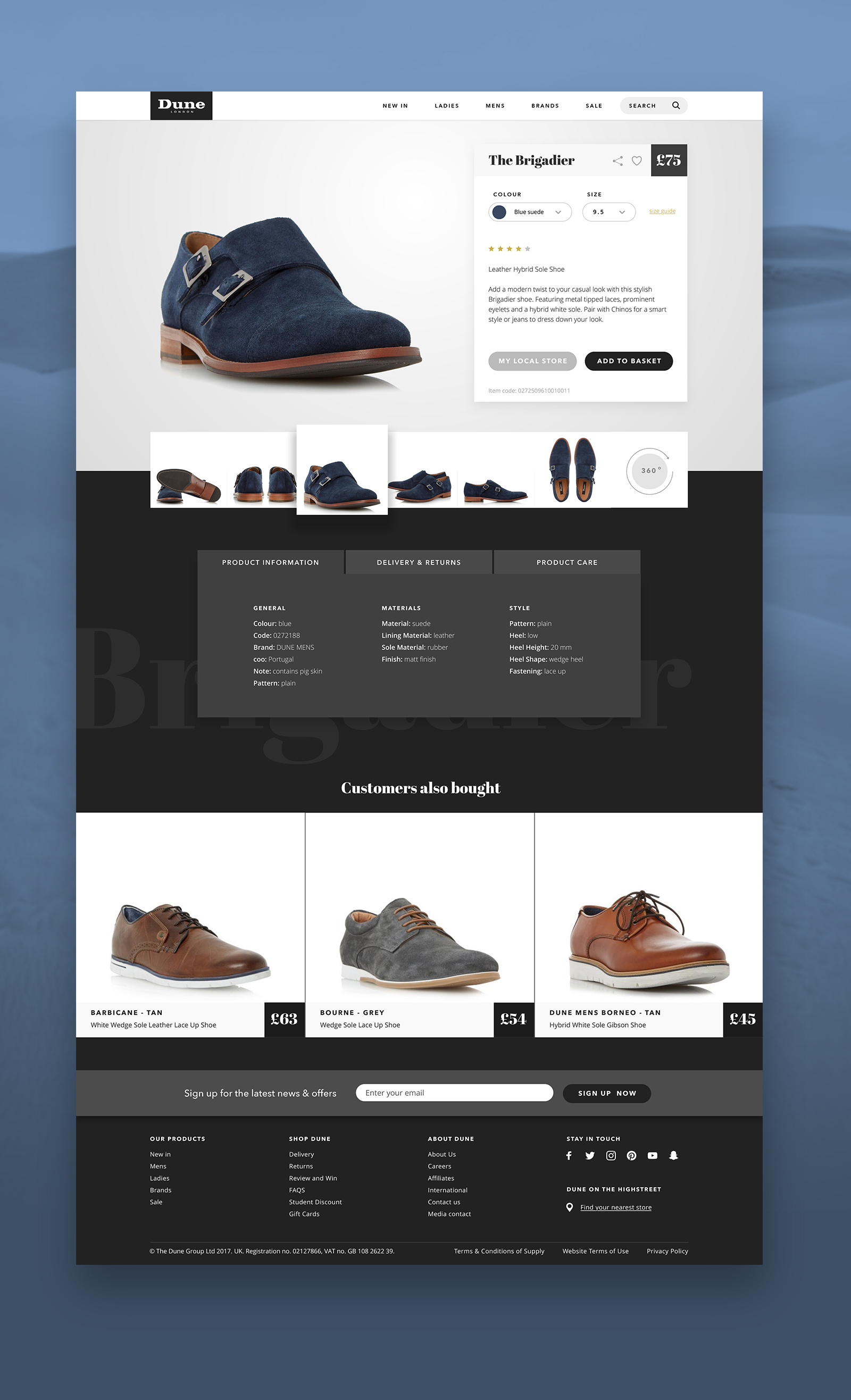 6f627972a44423 Dune London product page concept — Jon Mitchell