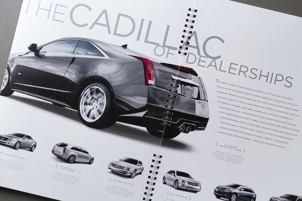 Crest Infiniti Cadillac Marketing Catalog 4