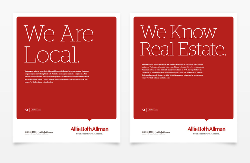 Allie Beth Allman & Associates Magazine Ad