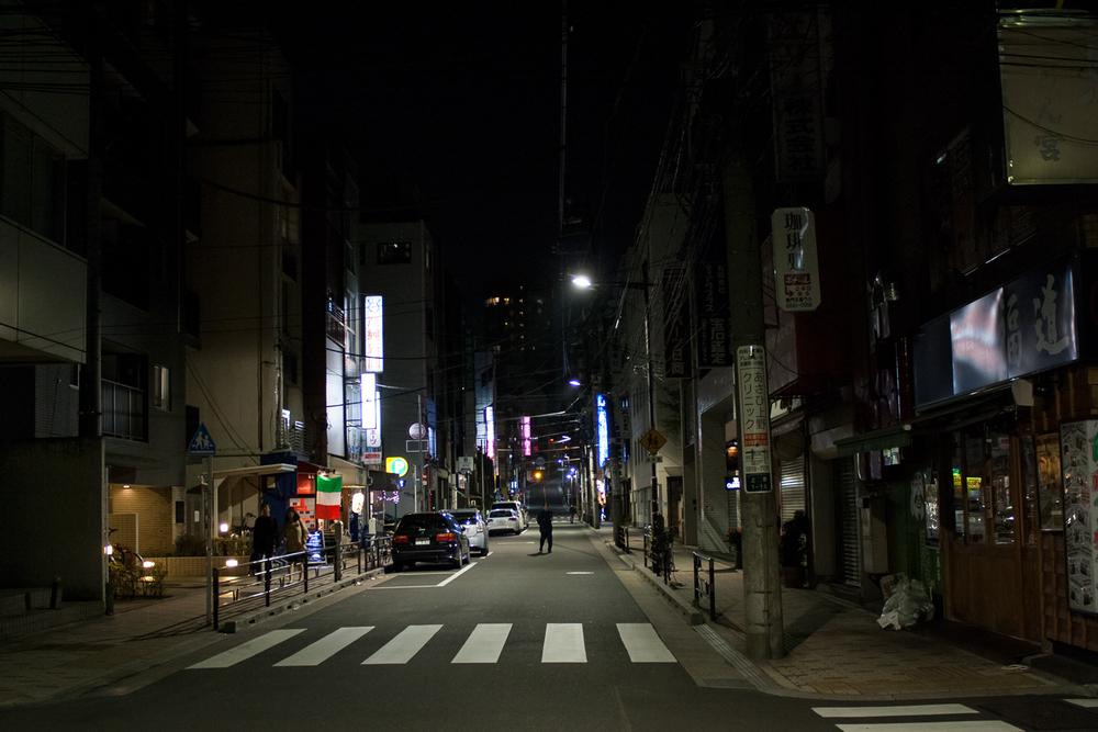 Darkened street, Ueno, Tokyo