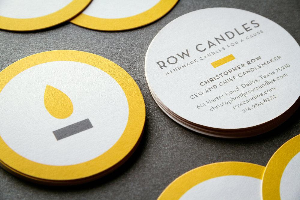 Row candle business cards banowetz company inc colourmoves