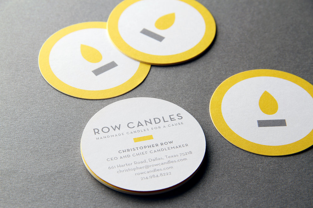 Row Candle Business Cards — Banowetz + Company, Inc.