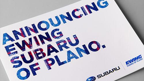 Feelin' the Love: New Work for Ewing Subaru of Plano