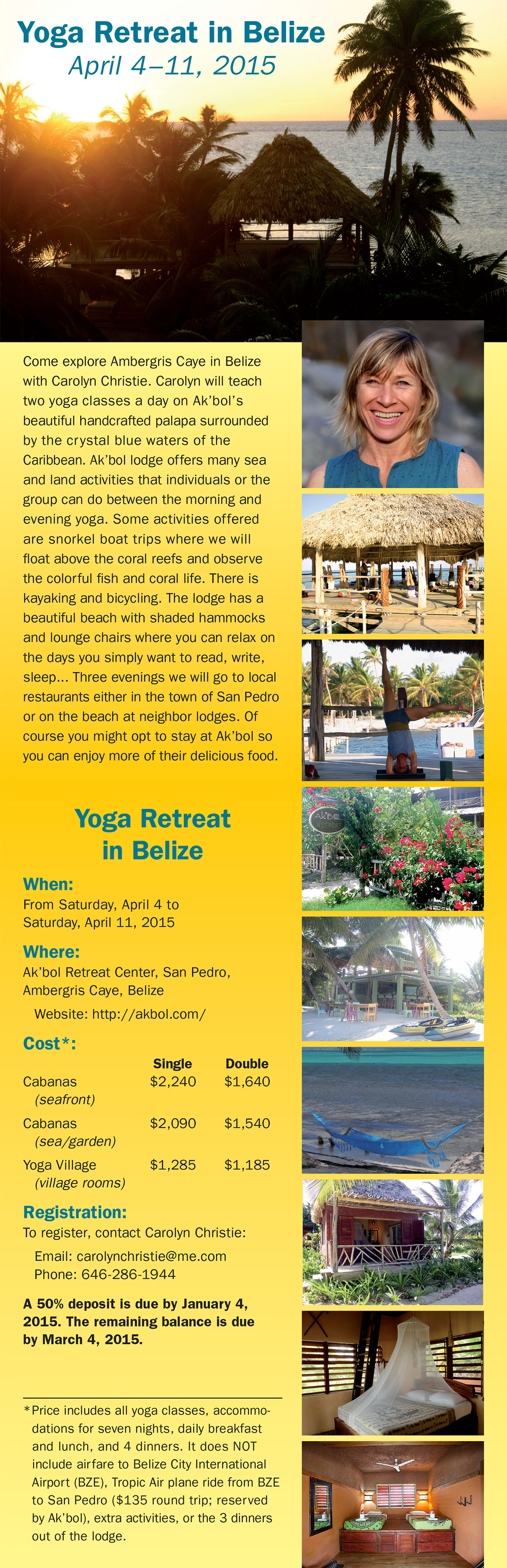 Carolyn Christie on last year's Belize trip