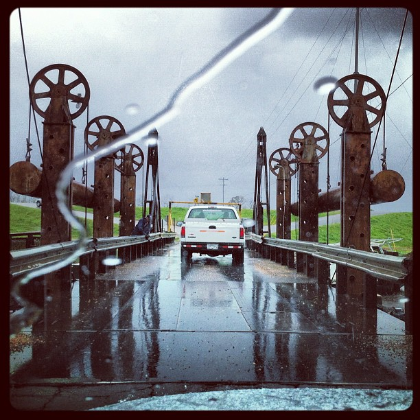 The pontoon bridge finally opened! (Taken with  Instagram  at Pontoon Bridge, Henderson LA)