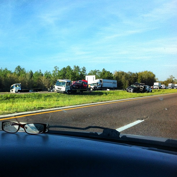 Rt 10 WB in Pensacola, turn around now, the troopers are measuring, you will be there awhile (Taken with  Instagram  at I-10 Eastbound)