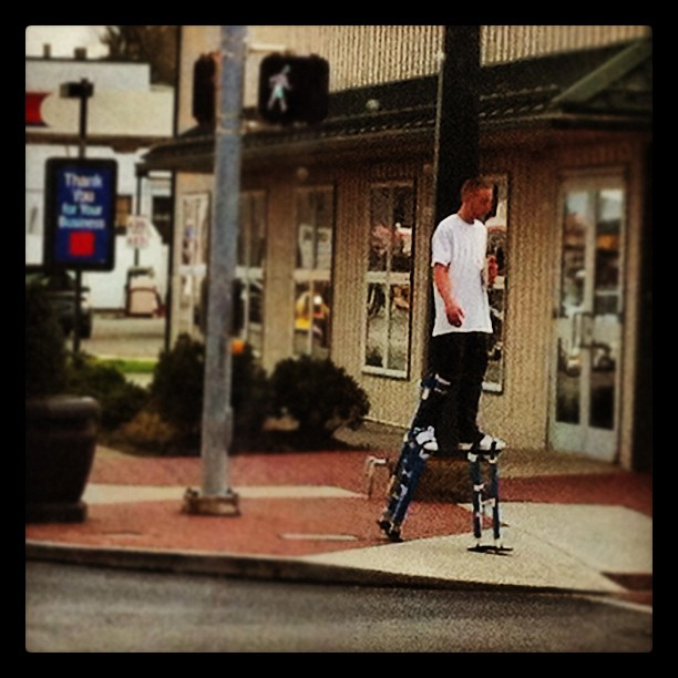 Pedestrian crossing (Taken with Instagram at Oxford, Pennsylvania)